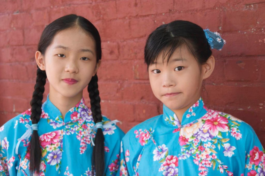 Taiwanese Girls at Confucius Temple in Taipei