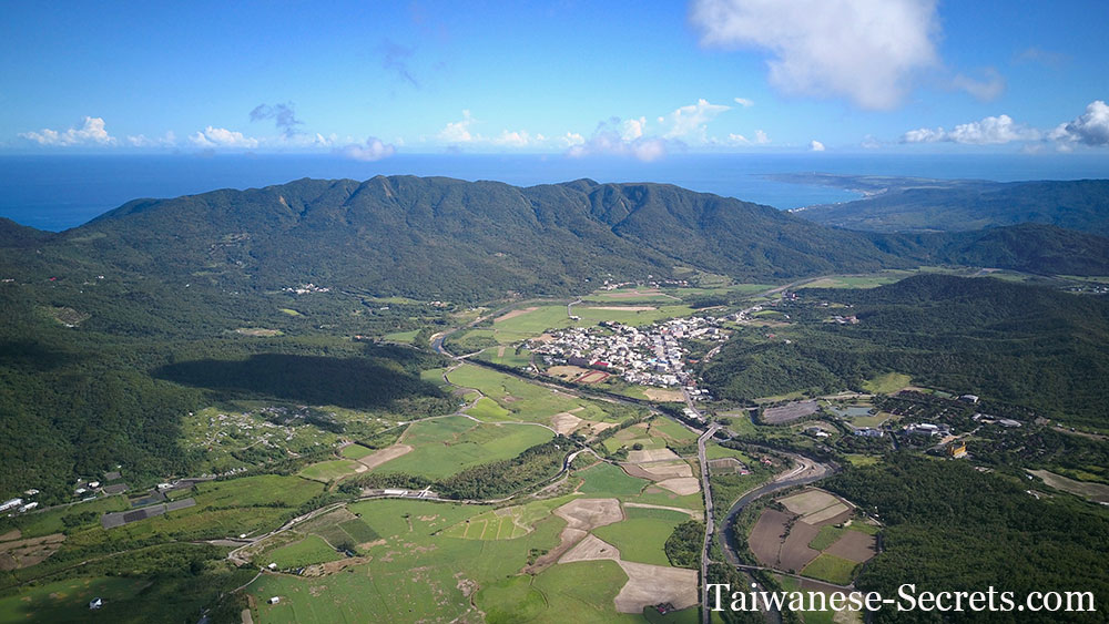 wild east drone shot taiwan