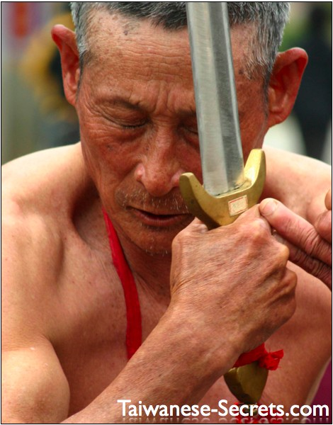 taiwanese old man with sword