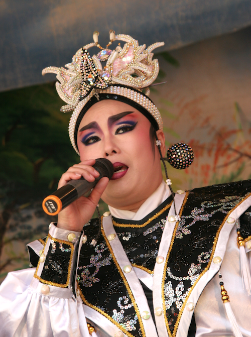 Chinese opera signer in taiwan