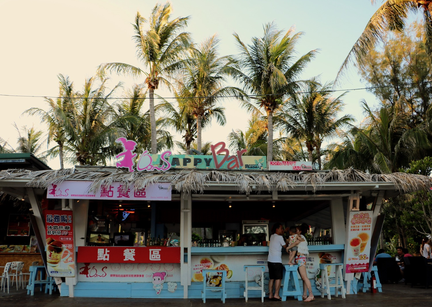Baisha beach bar in kenting, Taiwan