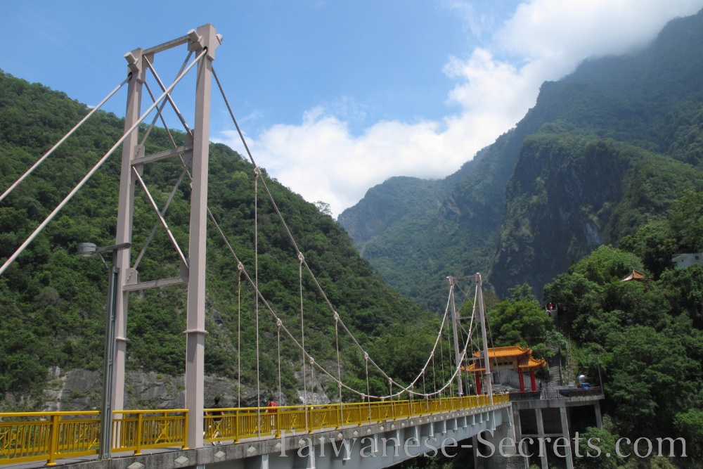 Bridge in Taroko Gorge, near Tianhsiang