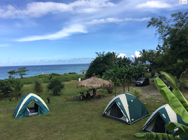 campsite in taitung county in taiwan east coast