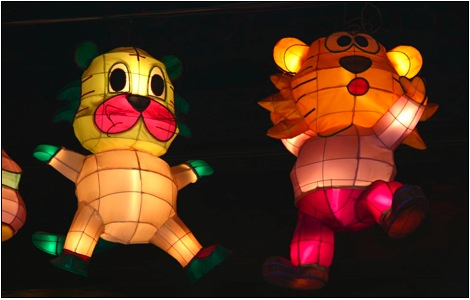 traditional lantern festival in taiwan