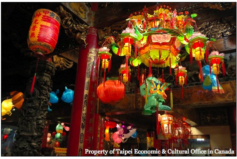 colorful chinese paper lantern