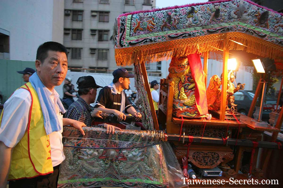 chinese traditional parade in Taichung