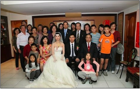 chinese family wedding picture
