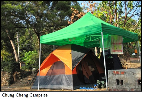Camping outside Taichung
