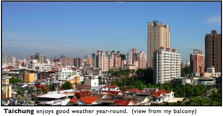 taiwan weather climate Taichung