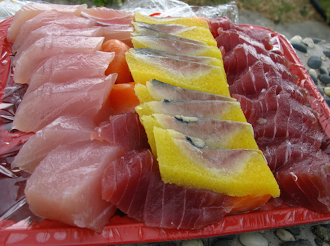 sashimi at houbihu kenting taiwan