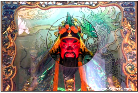 red angry chinese god of war