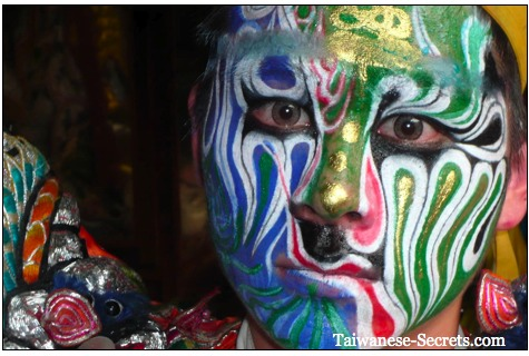 face painting chinese god