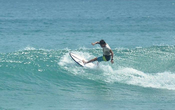 Surfer in Kenting Nanwan south bay