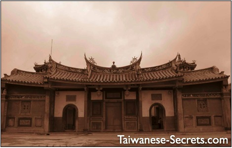 ancient chinese temple in taiwan