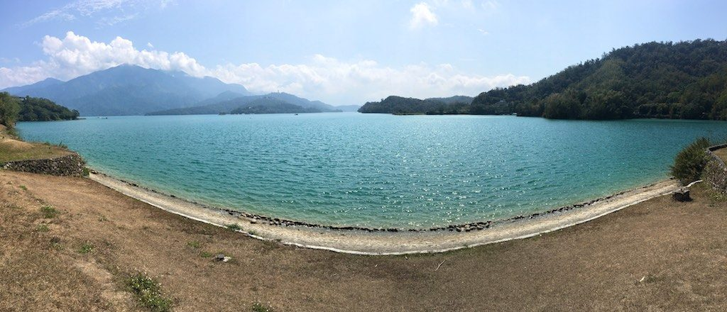 Shuishe Dam at Sun Moon Lake in Taiwan