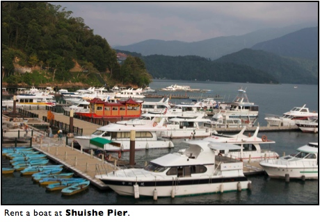 Boats Sun Moon Lake