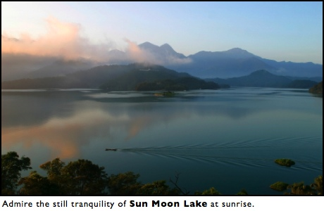 sun moon lake sunrise