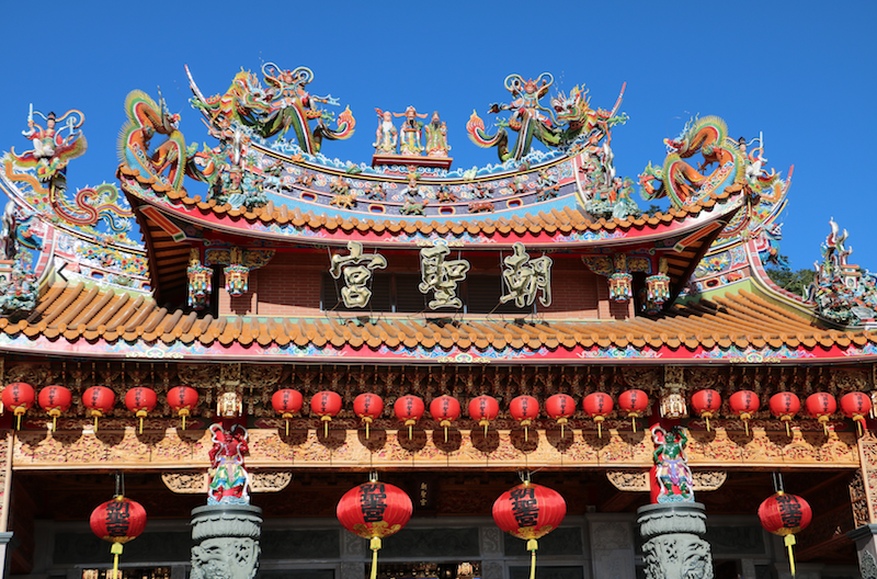 Chinese temple in Taichung, Taiwan