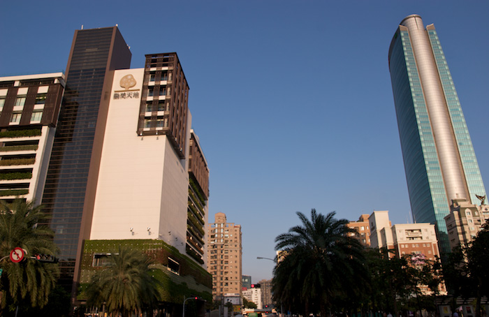 taichung blue sky with buildings