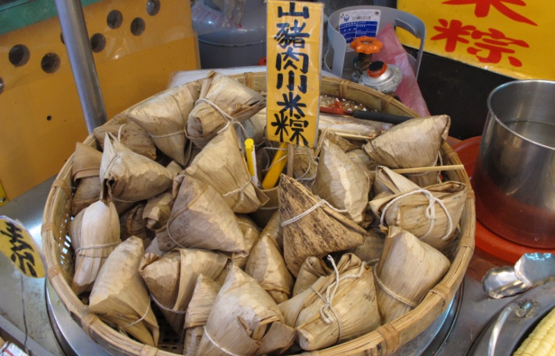 Taiwan Zongzi, rice wrapped in bamboo leaves - 台灣粽子