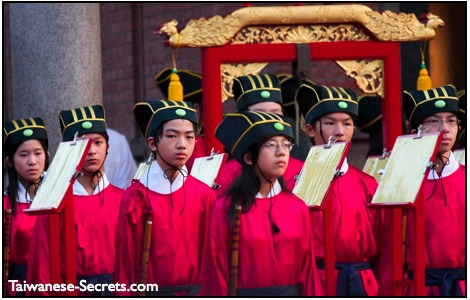 confucius birthday ceremony at confucius temple in taipei taiwan