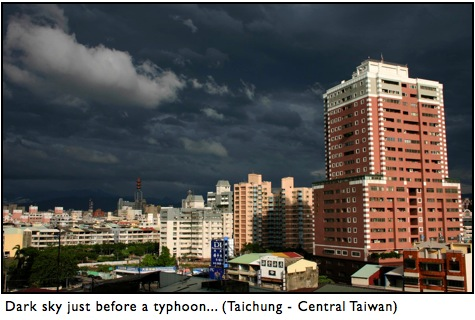 Typhoon in Taiwan - Taichung